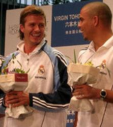 Japón, pasmado por la pugna de Beckham con un futbolista local